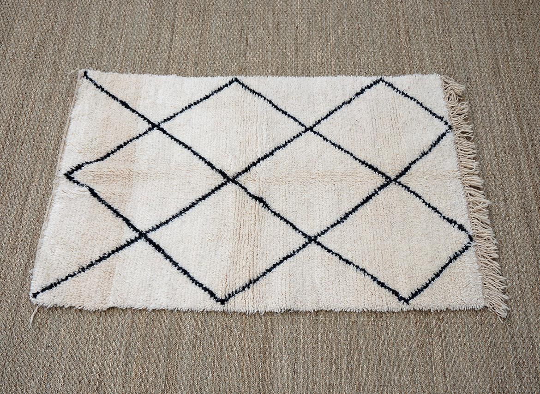 tapis beni ouarain 170x110cm - deconomad