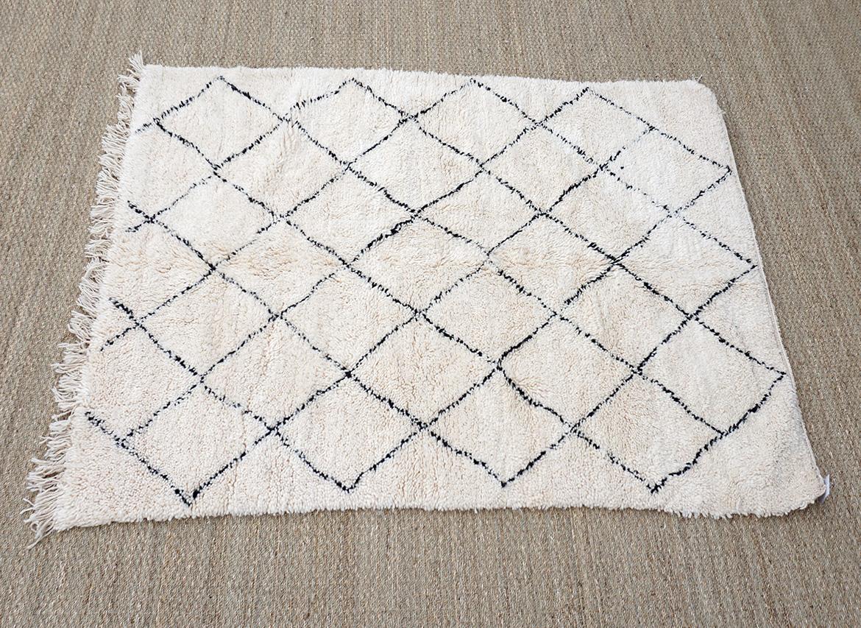 tapis beni ouarain 206x156cm deconomad - Tapis Beni Ouarain